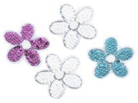 Embleme Termoadezive cu Paiete, Fluture (10 bucati/pachet) Cod: 400045 Embleme Termoadezive cu Paiete, Floare (10 bucati/pachet) Cod: 400014