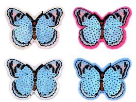 Embleme Termoadezive, Pisica (12 bucati/pachet)Cod: M4280 Embleme Termoadezive cu Paiete, Fluture (10 bucati/pachet) Cod: 400045