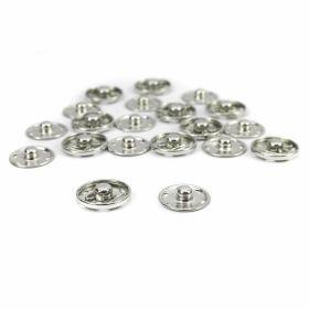 Capse la Set Capse de Cusut din Metal, 19 mm, Argintiu ( 200 seturi/cutie )