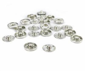 Capse la Set Capse de Cusut din Metal, 17 mm, Argintiu, Gun metal, Negru (200 seturi/cutie)