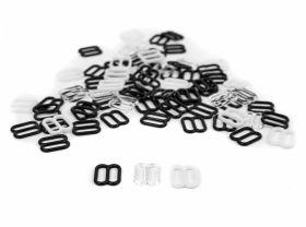 Inele Sutien, 10 mm, Alb, Negru, Transparent (2000 bucati/punga) Reglor Sutien, 10 mm, Alb, Negru, Transparent (2000 bucati/punga)