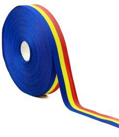 Banda Tricolor, latime 130 mm (50 metri/rola) Banda Tricolor, latime 25 mm (50 metri/rola)