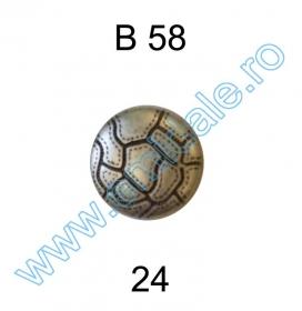 Nasturi cu Picior PL020, Marime 34, Aurii (144 buc/pachet) Nasture Plastic Metalizat B58, Marimea 24 (144 buc/pachet)