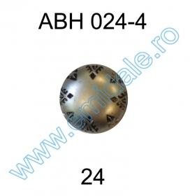 Nasturi AH1211, Marimea 40, Argintii (144 buc/pachet) Nasture Plastic Metalizat ABH024-4, Marimea 24 (144 buc/pachet)