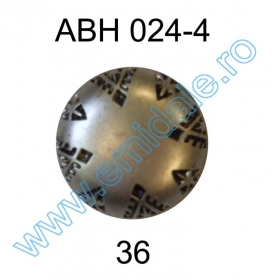Nasture Plastic Metalizat ABH024-4, Marimea 36 (144 buc/pachet)   Nasture Plastic Metalizat ABH024-4, Marimea 36 (144 buc/pachet)