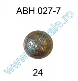 Nasturi cu Picior S597, Marimea 40 (100 buc/pachet)  Nasture Plastic Metalizat ABH027-7, Marimea 24 (144 buc/pachet)