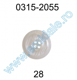 Nasturi Plastic  H275/48 (100 bucati/pachet) Culoare: Alb Nasture Plastic 0315-2055/28 (100 bucati/punga)