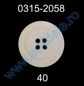Nasturi Plastic cu Patru Gauri 0313-1314/28 (100 bucati/pachet) Nasturi Plastic cu Patru Gauri 0315-2058/40 (100 bucati/punga)