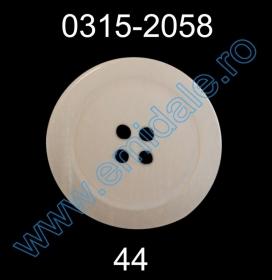 Nasturi Plastic cu Doua Gauri 0313-1283/40 (100 bucati/pachet) Nasturi Plastic cu Patru Gauri 0315-2058/44 (100 bucati/punga)