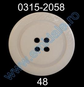 Nasturi Plastic EK252-70 (25 bucati/pachet) Nasturi Plastic cu Patru Gauri 0315-2058/48 (100 bucati/punga)