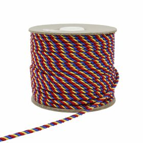 Banda Tricolor, latime 10 mm (50 metri/rola)  Snur Tricolor, latime 3 mm (50 metri/rola)