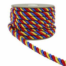Banda Tricolor, latime 10 mm (50 metri/rola)  Snur Tricolor, latime 5 mm (25 metri/rola)
