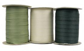 Banda Agatatori pentru Fuste, Alba, Neagra, latime 7 mm (250 metri/rola) Banda de Tiv, latime 15 mm (200 metri/rola)
