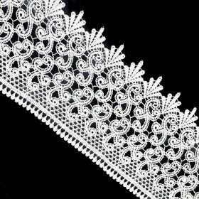 Banda Dantela Brodata 3D, 16 cm (12.50 metri/rola) Cod: A012-0048 Dantela 0575-4122 (13,72 m/rola)