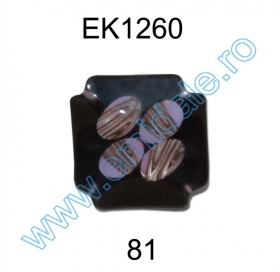 Nasturi Plastic cu Doua Gauri 0312-0111/40 (100 bucati/punga) Culoare: Alb Nasturi Plastic  EK1260-81 (25 bucati/pachet)