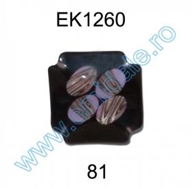 Nasturi cu Doua Gauri 0312-0092/44 (100 buc/punga) Nasturi Plastic  EK1260-81 (25 bucati/pachet)