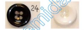 Nasturi cu patru gauri 3021/40 (100 bucati/punga) Nasturi Plastic cu Patru Gauri 0313-1314/24 (100 bucati/pachet)