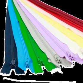 Fermoare Polyester Fixe Fermoare Fixe, Nedetasabile, spira 3 mm, lungime 20 cm (100 bucati/pachet)